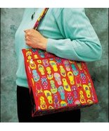 Flip Flops Carli Nylon Tote Organizer bag 12.25... - $10.00