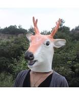 Creepy Deer Reindeer Head Face Animal Costume Halloween Party Prop Carnival Mask - $28.99
