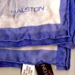 Vintage Halston Silk Chiffon Square Scarf Periwinkle Orchid
