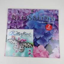 2019 Wall Calendar 12 Month Blossoms Butterflies 2 Pack - $7.69