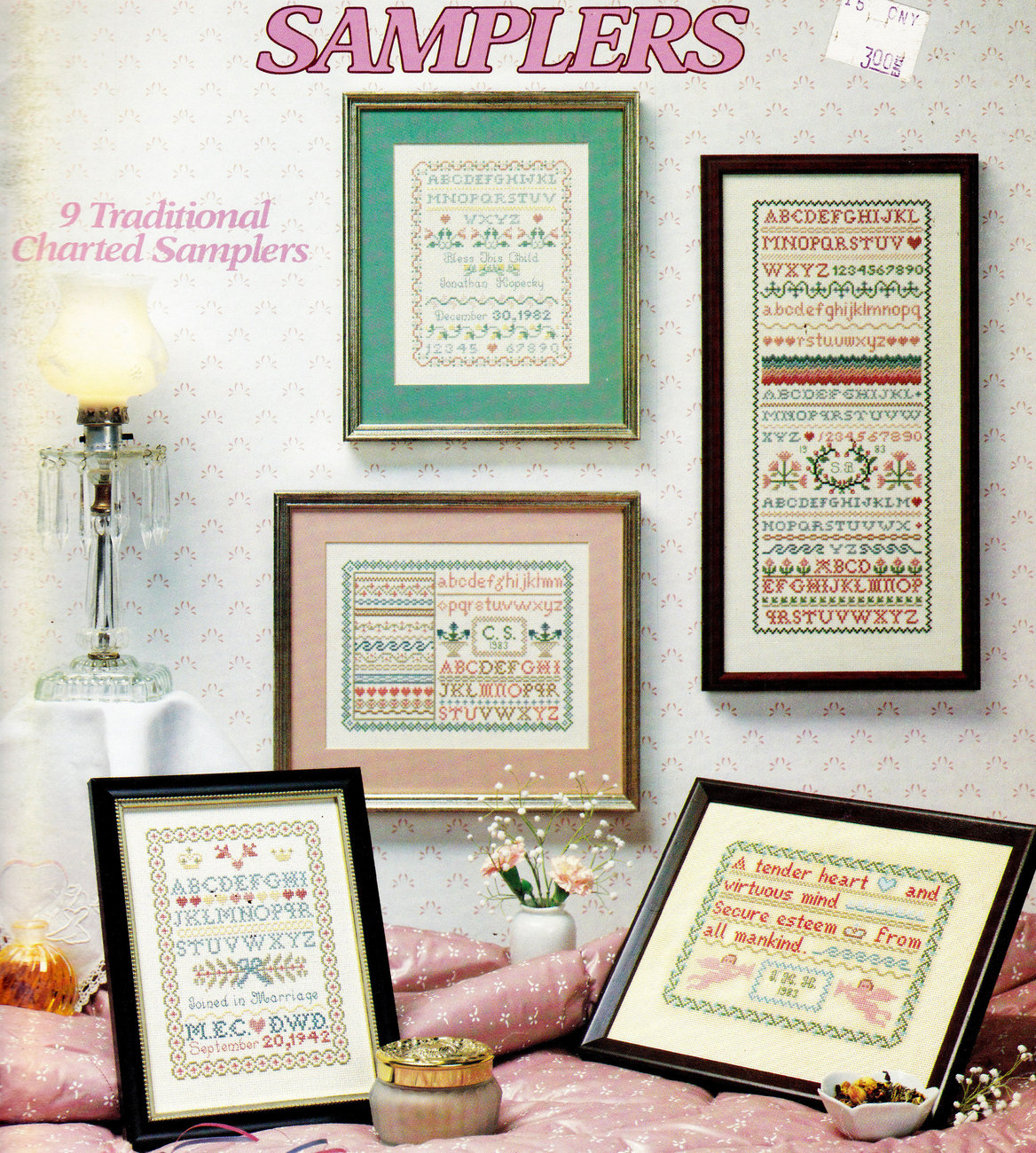 CROSS STITCH 9 TRADITIONAL KEEPSAKE SAMPLERS