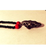 Black and Red Animal Skull Necklace, Help Support Wounded Warrior  - $7.35