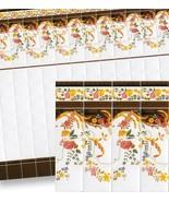 Dollhouse Mediterranean Wall Tile Sheet 34327 Flwr Garlnd World Model Mi... - $4.70