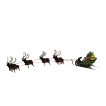 Department 56 Heritage Village Collection Sleigh and Eight Tiny Reindeer... - $29.99