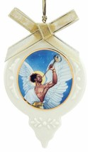 Thomas Blackshear Angel Gabriel Ornament Horn Ebony Visions Lenox Christ... - $26.73