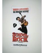 School of Rock Flyer ONLY Winter Garden Theatre The Musical Andrew Weber - $9.89
