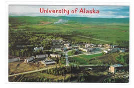 University of Alaska near Fairbanks Aerial View Vintage Mike Roberts Pos... - $6.69