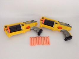 LOT of (2) Hasbro Nerf Guns Maverick Rev-6 Revolver Blasters w/ Darts Ne... - $32.62