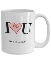 I Love You U Like A Lot - Girlfriend Boyfriend Gift White Pink Heart Cof... - £10.74 GBP+