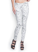 Nwt Guess Brittney Ankle Skinny Inbloom Silicone Rinse Printed J EAN S 31 - $56.74