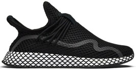 ADIDAS ORIGINALS DEERUPT S BLACK/WHITE SIZE 10 NEW FAST SHIPPING (BD7879)  - $79.55