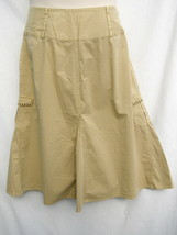 "CC Couture Circle Skirt Women's 14P New Khaki Latte 31"" Long Pockets Cot... - $24.50"