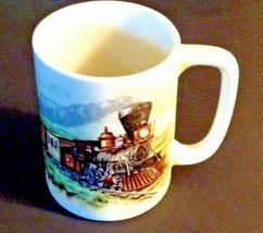 Vintage Otagiri Train Coffee Mug Locomotive Railroad Japan Ceramic - $16.78