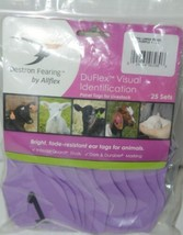 Destron Fearing DuFlex Visual Id Panel Tags for Livestock XL 25 Sets Purple 1-25 image 1