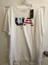 UNDER ARMOUR UA USA AMERICANA MEN'S T-SHIRT, WHITE, SIZE XXL, 2XL 1329647 - $19.80