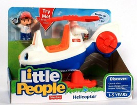 Fisher-Price Little People Helicopter Discover Cause & Effect Age 1 To 5 Years - $31.99