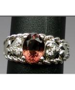 14k Pink Tourmaline & Diamonds Ring. FREE SIZING - $399.00