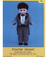 "Groom Outfit for 13"" Doll Td Creations Crochet Pattern Leaflet - $5.37"