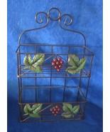 "Grape Design Metal 2 shelf Wall Basket 14"" - $22.27"