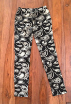 Gap Kids Girls Legging 10 Black White Star Paisley Print Geo Knit Stretc... - $16.95