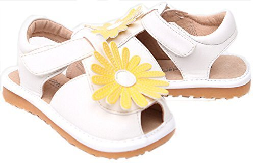 Toddler/Little Kids Flower Princess Casual Outdoor Sandal White&Yellow