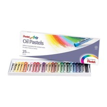 Pentel Arts Oil Pastel Set Assorted Colors, Set of 25 Drawing Art Color - $8.39