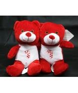 THE ORIGINAL BEANPALS ~2 Red Christmas Bears~ KellyToy Bean Pal Beanie ~... - $9.49