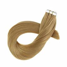 Hetto Tape on Real Hair Extensions #27 Blonde Tape in Hair Seamless Extensions 1 image 6