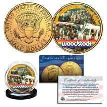 WOODSTOCK 50th Anniversary 1969-2019 Genuine 24KT Gold Gilded JFK Kenned... - $9.46