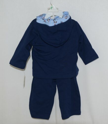 SnoPea Baby Boy Blue Airplanes Long Sleeve Shirt Pants 12 Months