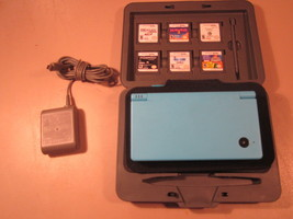 NINTENDO DSi Blue w/6 games, Carry case, Charger  [h11] - $46.08