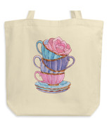 Blue Purple & Pink Tea Time Set  - Eco Tote Bag (organic cotton) - $29.97