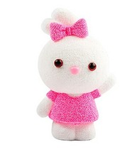 Beads mud Clay Dolls for Kids or Baby DIY Colorful Toy(Pink Rabbit) image 2