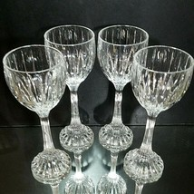 4 (Four) MIKASA PARK LANE Cut Lead Crystal Wine Hock Glasses DISCONTINUED - $102.88