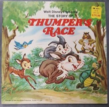 Walt Disney Presents The Story of Thumper's Race 1970 Bambi PB Book Illu... - $9.89