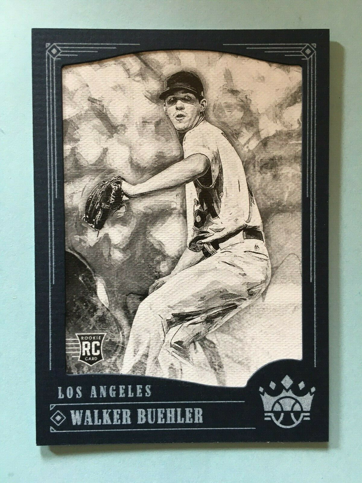 Primary image for 2018 Diamond Kings Walker Buehler #108 Rookie Baseball Card Dodgers Black Border