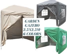 2.5 x 2.5m Gazebo Pop Up Market Heavy Duty Waterproof Stall Tent 4 Side ... - $165.19