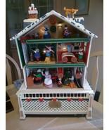 Vintage Christmas Santa's Musical Workshop Holiday Animated Plays 15 Songs Music - $88.11