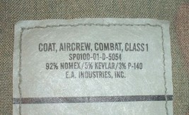 US Army coat, combat, aircrew, woodland camouflage X-Large, Long E.A. Ind. 2001 - $50.00