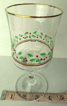 Arbys Arby's Christmas Collection 1985 Glass Holiday Stemware   Vintage image 6