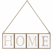 Home Glass Wall Art by Lenox  Metal Frame and Chain NEW IN BOX - $29.70