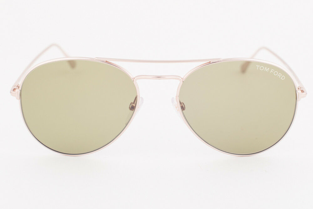 Tom Ford Ace 02 Gold / Green Sunglasses TF551 28N