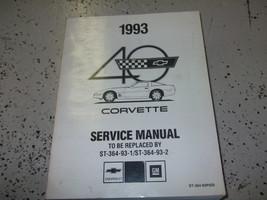 1993 Chevy Corvette Préliminaire Service Atelier Réparation Manuel Usine... - $98.97