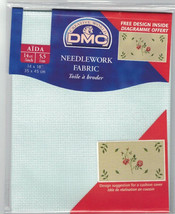 DMC Aida Style 694 Mint Green 14 Count Cross Stitch Fabric 14 x 18 inch ... - $9.79