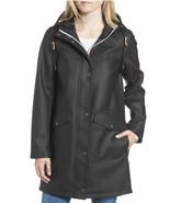 Levi's Fishtail Waterproof Rain Coat Jacket Black Women's Zip Parka L NW... - $79.48