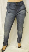 Nwt DKNY Jeans Mid Rise Stretch Ankle Skinny Zip Denim Jeans 30 10 Dark ... - $32.62