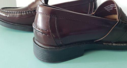 4f6918eace8 Nunn Bush Men s Dress Casual Penny Loafers Leather Sz 10 W Wide Burgundy