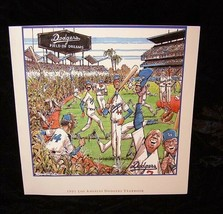 MLB Baseball Los Angeles Dodgers Field Of Dreams 1991 Year Book Lot of 2... - $17.99