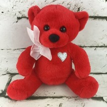Dan Dee Collectors Choice Teddy Bear Plush Red Stuffed Toy Anniversary Love Gift - $14.84