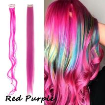 Long Natural Hair Clip In Rainbow Hair Extensions image 13